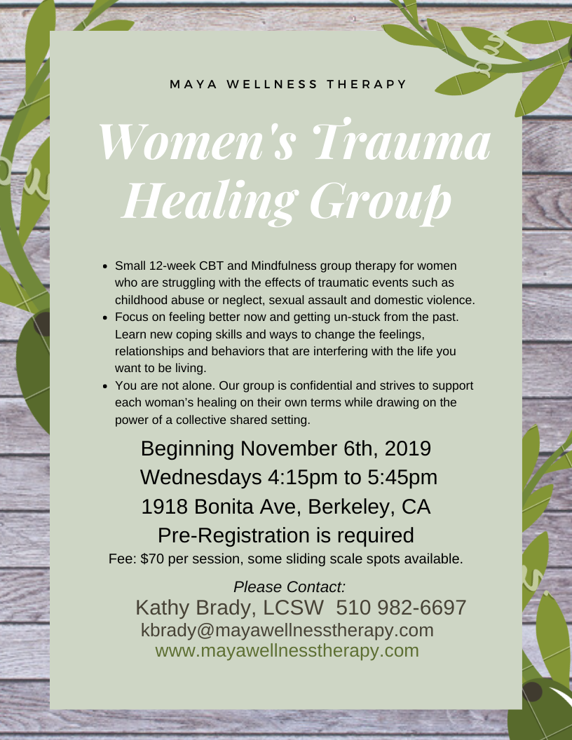 New Women's Trauma Healing Group
